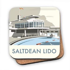 Saltdean Lido cork backed drinks coaster    (se)